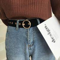 Velvet Ladies Long Belt Heart-shaped Round Square Pin Buckle High Quality Waist Strap Jeans Dress Women Decorations Waistband