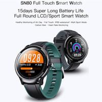 SN80 Spor akıllı saati erkek IP68 su geçirmez 60 günlük uzun bekleme Kalori 8 Sport Modle Allloy vaka Kalp atış hızı akıllı saat Hava