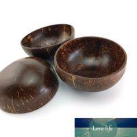 Bol de noix de coco naturelle Décoration Salade de fruits de nouilles de riz en bois Artisanat Creative Bols Shell