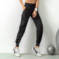 Мода-женщины студии йоги Брюки женские быстро сохнут кулиской Running спортивные брюки Сыпучие Dance Studio Jogger Девушки Йога штаны Gym Fitness