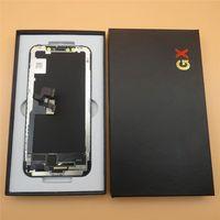 GX الصلب OLED شاشة LCD لفون X بتقنية الكريستال السائل الشاشات التي تعمل باللمس التحويل الرقمي الجمعية الاستبدال الكامل 100٪ tesed
