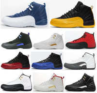 New 12 12s OVO Universidade Gold Stone Azul Taxi Jogo Real Basketball Shoes Men The Master cinza escuro FIBA ​​Sneakers com caixa