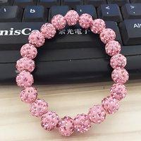 Cuentas, hebras Moda colorido diamantes de imitación incrustados Shambhala Beads Pulsera de ocio al aire libre DIY joyería brazalete para las mujeres