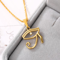 Colares Pingente Egito Moda Turca Mal Eye Colar Clavícula Chain Hamsa Hamsa Ladies Chic Amuleto De Ouro Egipto Jóias
