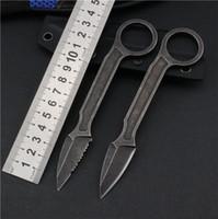 Spaten mit Doug Marcaida feststehender Klinge gerade Tactical Messer voller Zapfen Stahl Griff reparierten Blatt-Papierschneider Messer a3091
