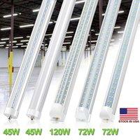 8FEET V образный T8 двойной стороны светодиодных трубок фары R17D Вращающиеся 8ft 45W 65W магазин освещение светодиодных фонарей