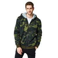 Meninos outono camuflagem verde Hoodies Casual Inverno Sportswear Man Zip Hoodie com capuz Oversized camisola Masculino Long Sleeve Top T200914