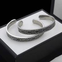 Винтажная пара браслета открывается регулируемый размер браслет мода личностный браслет высокого качества посеребренные украшения