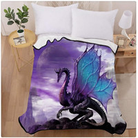 Purple Dragon Heart Home Decoration Printing Velvet Plush Th...