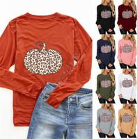 Kadınlar Tasarımcılar Cadılar Bayramı Kapüşonlular Kazaklar Leopar Kabak Desen Baskılı Sweatshirt Sonbahar Kış Casual Patchwork Kadın Giyim D9712