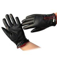 kadın kış eldiven kadın sıcak PU deri eldivenler erkek termal kalınlaştırmak Guantes eldivenler