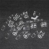 Arena voladura de cuarzo uñas con un patrón más nuevo Sundries Banger de cuarzo masculino 14mmJoint 90 grados para bongs de vidrio Tubería de agua DHL