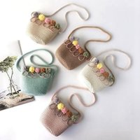 Ragazze di spalla della paglia Rattan Weave Borsello Per neonate migliore
