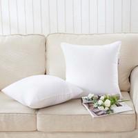 Almohada de la almohada de sublimación Impresión de transferencia de calor Cubiertas de almohada en blanco Cojín de almohada 40x40cm sin insertar cubiertas de almohadas de poliéster GWB1853