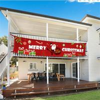 300 * 50 centímetros New Feliz Natal Bandeira Decorações de Natal para casa ao ar livre Bandeira Bandeira Puxando New Year deocr