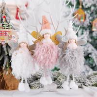 Weihnachtsbaumschmuck nette Plüsch-Engel-Puppe-Weihnachtsbaum-Anhänger Weihnachtsdekorationen für Haus 2020 Natal Kinder Geschenke Neujahr