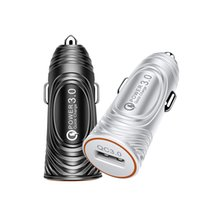 Adaptateur de chargeur de voiture USB QC3.0 Charge rapide 3A LED Light Light Bullet Head Phone Chargeur pour téléphone portable Tablet GPS