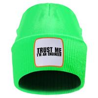 Vertrauen ich bin Ingenieur Mens der neuen Ankunfts-Strickmütze Breathable feste nette Frau Beanies Hut 10 Farben Elastic Bonnet Caps