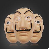 Máscara de Salvador Dali Full Face Mask La Casa De Papel Rosto Máscaras traje Filme Máscaras Halloween Cosplay Frete Grátis HHE1421