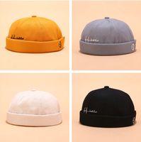 Мужские черепа Cap шапочка Зимней ретро Hat человек Багги дыня без полой шапки манжеты Докер шляпа мода улицы Шапочка для мужчин NEW