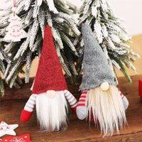2020 Noël Anniversaires suédoise Gnome scandinave Tomte Père Noël Nisse nordique en peluche Elf Toy Table Ornement Arbre de Noël Décorations HH9-2601