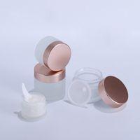 5g 10g 15g 20g 30g 50g 60g 100g Mattglas kosmetisches Glas leere Gesichtscreme Vorratsbehälter nachfüllbar Probenflasche mit Rose Gold Lids