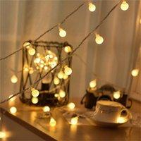 Garland 10M AA Pil LED Topu Işıklar Noel Işıklar Kapalı Garland Piller Düğün Noel Dekorasyon Işık