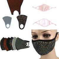 Алмазный моды Защитные Bling Bling пыле маска РМ2,5 Mouth Маски моющийся многоразовый 4pjl