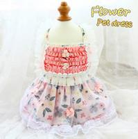 اليدوية الكلب الملابس الملابس الحيوانات الأليفة اللباس الجمالية نمط الفنية عادي اللون floret تول الدانتيل تنورة الأميرة