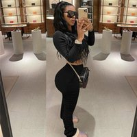 Reset 2020 Womens Designer Tracksuits Solid Color 2PCS Sets Pencil Pants Long Sleeve Womens Clothes Sexy Casual Suits