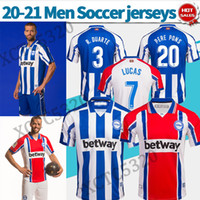 Deportivo Alaves soccer jersey home 2020 2021 adult away soc...
