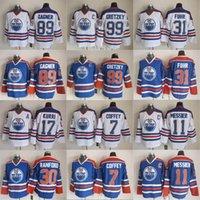 Hockey Jerseys Edmonton Oilers Vintage 99 Wayne Gretzky 11 Mark Messier 89 Sam Gagner 7 Paul Coffey 30 Bill Ranford 31 Grant Fuhr