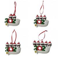 Merry Christmas Ağacı Süsler Reçine Yüz Maskesi Kardan Adam Giyim Süslemeleri Varış 10 5HM H1