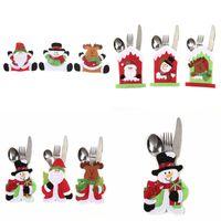سكين عيد الميلاد حقيبة شوكة غير المنسوجة سانتا ثلج موس عيد الميلاد السنة الجديدة الجيب شوكة سكين السكاكين حقيبة عيد الميلاد الرئيسية حزب أدوات المائدة الديكور