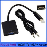 1080P HDMI zu VGA-Konverter-Audio- und Videokabeln DP-Anzeiganschluss-Port-männliches T O V G A-Buchse-Converter-Adapterkabel