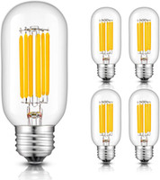 E27 2W 4W 6W COB LED Vintage Retro Edison Filament Ampul Lamba Globe T45 85-265V