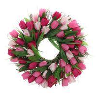 Dekorative blumen kränze künstliche tulip floral hause garten wand hängen girlande vordertür Fensterversorgung für Party DIY Hochzeit Decorat