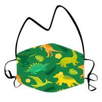 DHL Versand Kinder Cartoon-Dinosaurier-Maske mit Lanyard Seil Anti-Fog-Staubschutzmasken Waschbar Winddichtes Hanging Neck Gesicht Abdeckung HHD1548