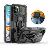 Shockproof Fall für iPhone 12 Pro Max XR XS X 7 8 6S Plus-7Plus SE 2020 iPhone11 mit Gürtel Rugged Hybrid Rüstung Standabdeckungen Clip