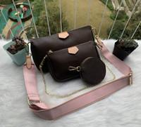 Sıcak son erkek ve kadınlar omuz çantası Messenger çanta omuz taşınabilir cüzdan sırt çantası ücretsiz posta M44813 kaliteli satış