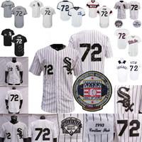 Carlton Fisk Jersey Vintage 1993 White Pinstrie Baseball Hall of Fame Remendo Preto Cinza Botão de pulôver Home Away Todos os homens sttiched Tamanho M-3XL