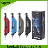 100% Original Lookah Seahorse Pro vaporizador New Wax Pen Quartz Bobina Variable Voltage Kit Starter For Rig Hot Popular DHL Fast Ship