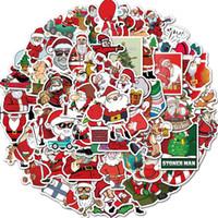 Pegatinas Cartel de Halloween engomadas de la pared de Navidad personalizadas para los regalos habitaciones Home portátil monopatín Party Kids etiqueta de equipaje del coche de la historieta DIY