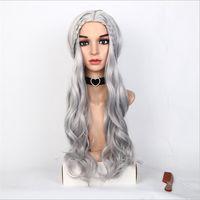 Livraison gratuite Fashion Dragon Fille avec la même tête de perruque dans le long rouleau, tremblant, tiktok, soie haute température