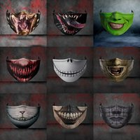 9 styles Halloween Scary face mask dust- proof Anti- fog pm2. 5...