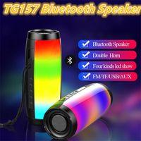 TG157 Lampe LED Haut-parleur Bluetooth étanche Fm Radio portable sans fil haut-parleurs Mini colonne Subwoofer USB Sound Box Mp3 Téléphonie Informatique Basse