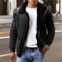 Fermuar Kış Artı boyutu Mens Coats Kalınlaşmak Yaka Yaka Uzun Kollu Adam Ceketler Katı Renk Mens ile Outerwears