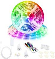 RGB LED Luz de tira 5050 5m 10m IP20 LED LED RGB LEDS Cinta LED Cinta Flexible 44Key IR Controlador DC24V Adaptador Conjunto