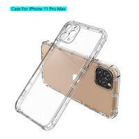 Estuche a prueba de golpes para iPhone 12 MAX 11 Pro MAX XS XR X SE 7 8 PLUS CUERCO TRANSPARENTE TPU TPU transparente