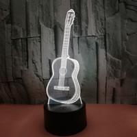 3D-LED-Nachtlichter Sieben-farbe änderbare Berührungsfernbedienung Atmosphäre LED-Lampe für Schlafzimmer Kinderzimmer-Shop Café Büroweihnachtsgeschenk